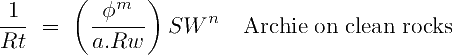 Archie Saturation Equation in terms of Conductivity
