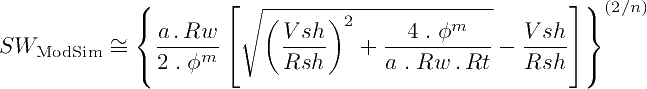 First variation of the Modified Simandox Equation