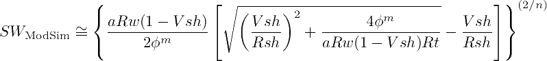 Second variation of the Modified Simandox Equation