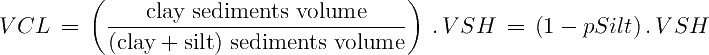 Equation to estimate VCL from VSH