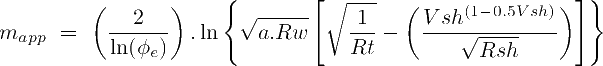 Apparent Indonesia cementation exponent equation